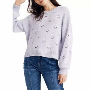 Madewell Cotton Lilac Knit Pullover NWT XXL